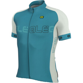 Alé Cycling Solid Block Short Sleeve Jersey Men sky blue-white